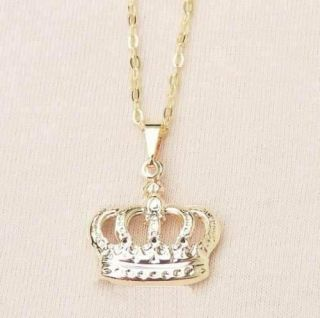 Colar Gargantilha De Coroa Princesa Moça Delicada Folheado