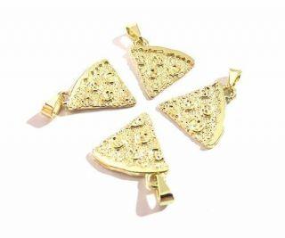 Colares Para Best Friends Pizza Folheado A Ouro 4 Pçs - B28