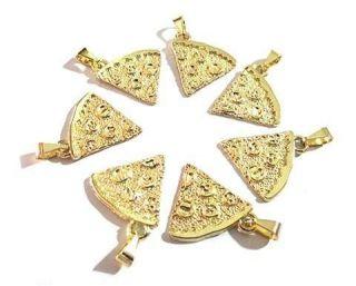 Colares Pizza Para Melhores Amigas Folheado Ouro 7 Pçs - B28