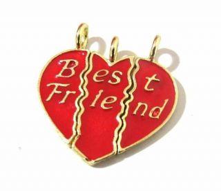 Pingente Amizade Best Friends Melhores Amigas Folheado Ouro