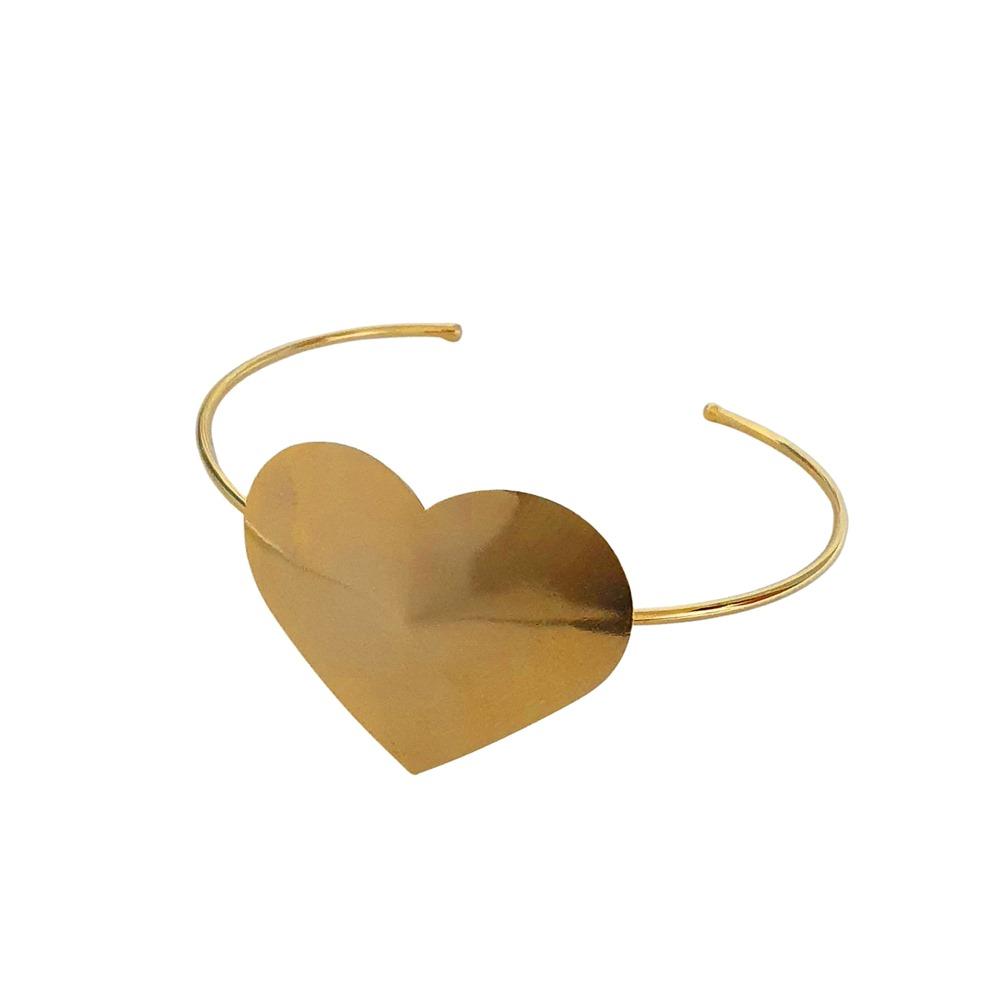 Bracelete CARLA DIAZ Coração Folheado A Ouro 18k