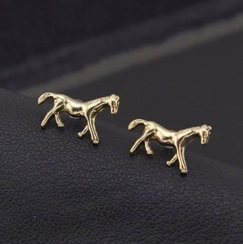 Brinco Cavalo Country Folheado A Ouro 18k