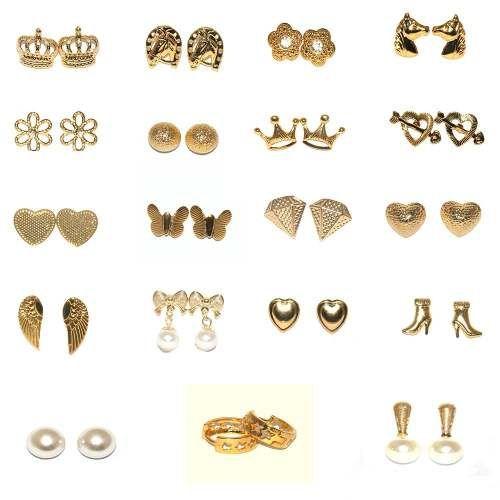 Brincos Pequenos Folheados A Ouro 18k - Cada Unidade