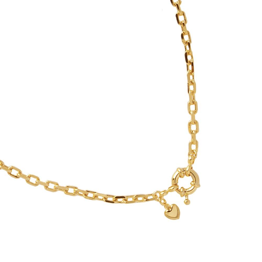 Choker Cartier Coração Fecho Boia Folheado Ouro 18k