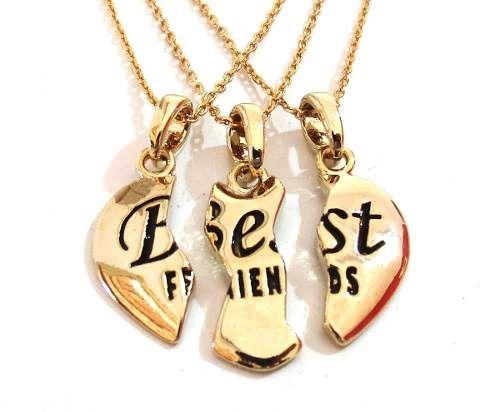 Colar Amizade Best Friends Melhores Amigas Folheada - B12