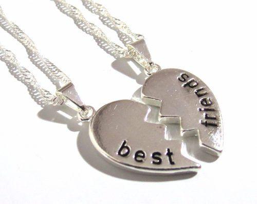 Colar Amizade Best Friends Melhores Amigas Folheada - B3