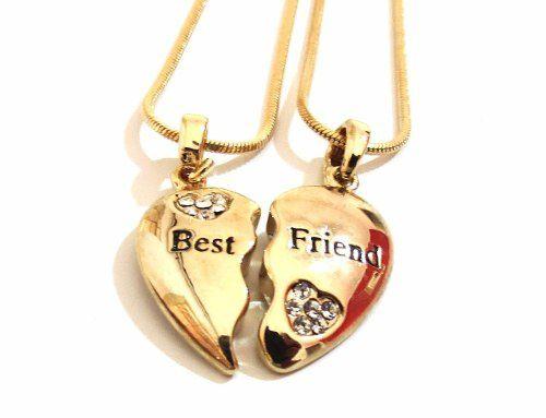 Colar Rabo de Rato Amizade Best Friends Melhores Colegas Coração - B6
