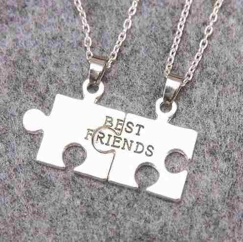 Colar Best Friends Melhores Amigas Amizade Folheado - B29
