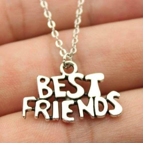 Colar Best Friends Melhores Amigas Amizade Folheado Prata