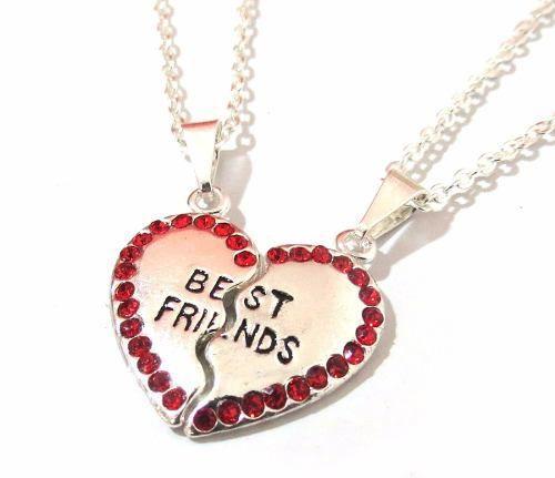 Colar Best Friends Melhores Amizade 2 Partes Folheado - B2