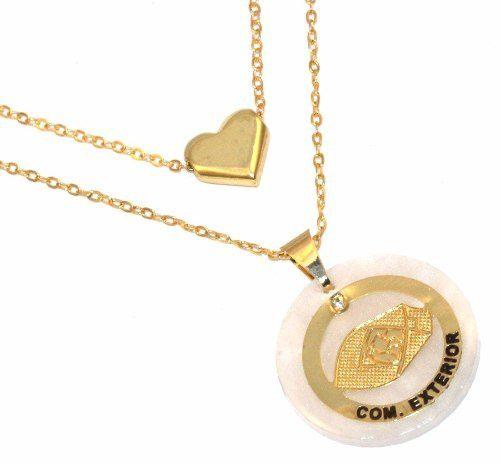 Colar Duplo Comercio Exterior  Folheado A Ouro 18k