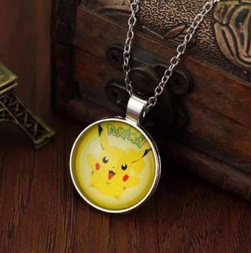 Colar Gargantilha Pokemon Pikachu Folheado A Prata X