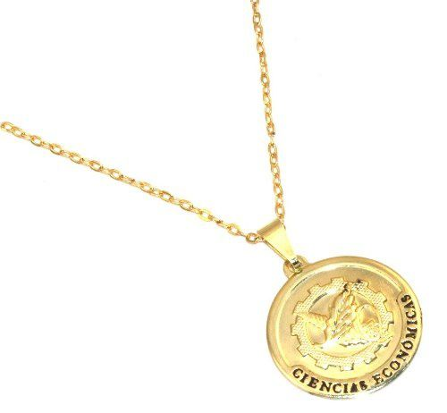 Colar Medalha Ciencias Contabeis Contabilidade Folheado Ouro