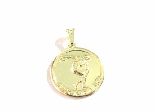 Colar Medalha Educação Física Esportes Folheado A Ouro