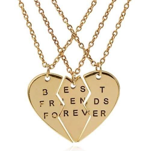 Colares Amizade Amigas De Deus Folheado Ouro - B27