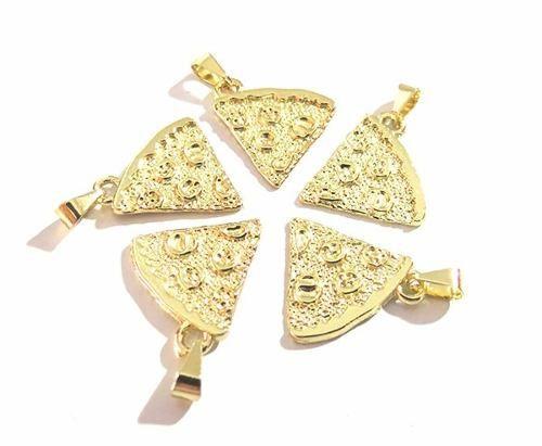 Colares Best Melhores Amigas Pizza Folheado Ouro - B28