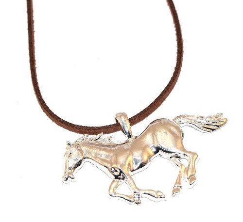 Cordão Cavalo Grande Country Folheado Niquel