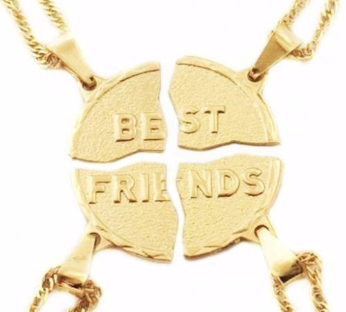 Kit 4 Colares Gargantilhas Melhores Amigas Best Friends B37