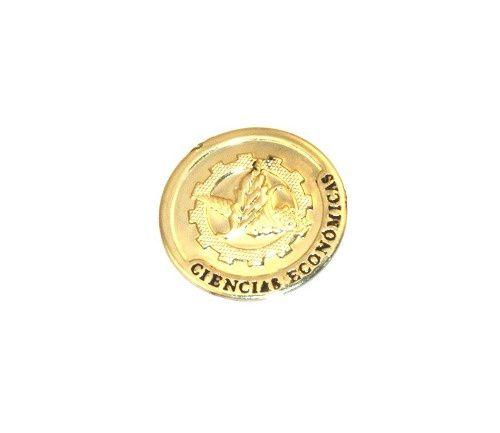 Pin Bottom Broche Economia Economista Folheado Ouro Promoção