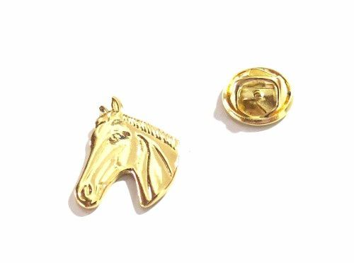 Pin Botton Broche Cavalo Country Folheado A Ouro 18k