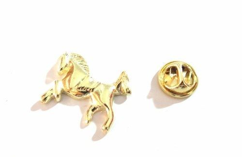 Pin Botton Broche Cavalo Domado Country Folheado Ouro 18k