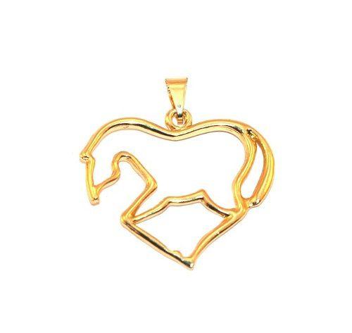 Pingente Cavalo Country Folheado A Ouro 18k Lindo !