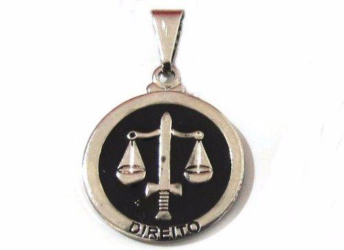 Pingente Profissão Direito Advocacia Cor Niquel