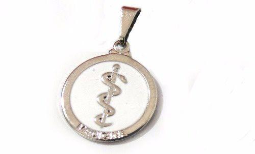 Pingente Profissão Medicina Medico Cor Niquel