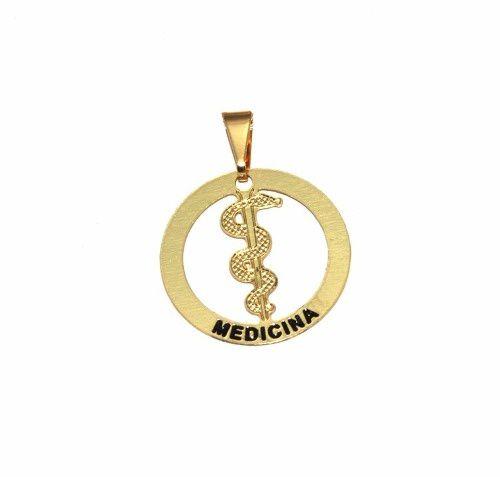 Pingente Profissão Medicina Médico Folheado Ouro Lindo