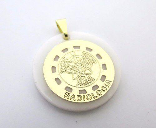 Pingente Profissões Radiologia Folheado A Ouro 18k