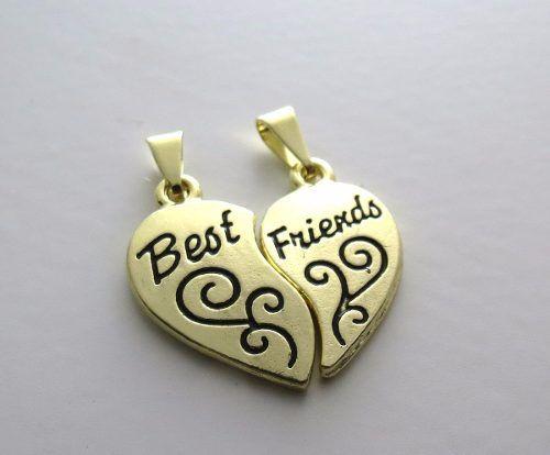 Pingentes Da Amizade 2 Conjuntos Best Friends Folheado - B4