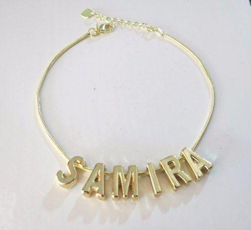 Pulseira Personalizada Nome Folheado Ouro 18k - Ate 10 Letra