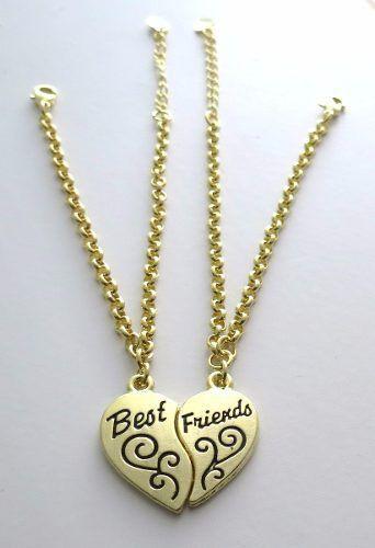 Pulseiras Eu Amo Minha Amiga Best Friends Folheada Ouro B4