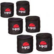 Bandagem Elástica MKS 2,55m - Pack 3 Pares Pretas