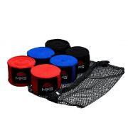 Bandagem Elástica MKS 3,55m - 3 Pares Coloridos + tela lavagem