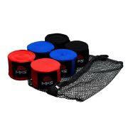 Bandagem Elástica MKS 4,55m - 3 Pares Coloridos + tela lavagem