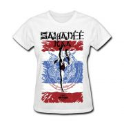 Camiseta Feminina MKS Nations - Muay Thai (Branca)