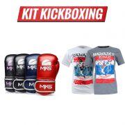 Combo Lutador: Luva MKS Energy + Camiseta Kickboxing