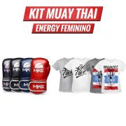 Combo Lutadora: Luva Energy + Camiseta Muay Thai