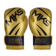 Luva de Boxe MKS Champions III Dourado