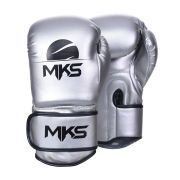 Luva de Boxe MKS  Energy - Metalic Silver