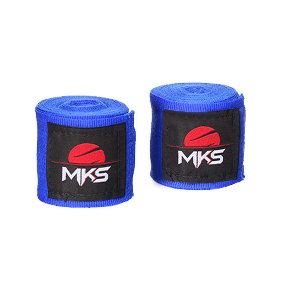 Fita Protetora Elástica MKS 2,55m - Pack 3 Pares Azuis
