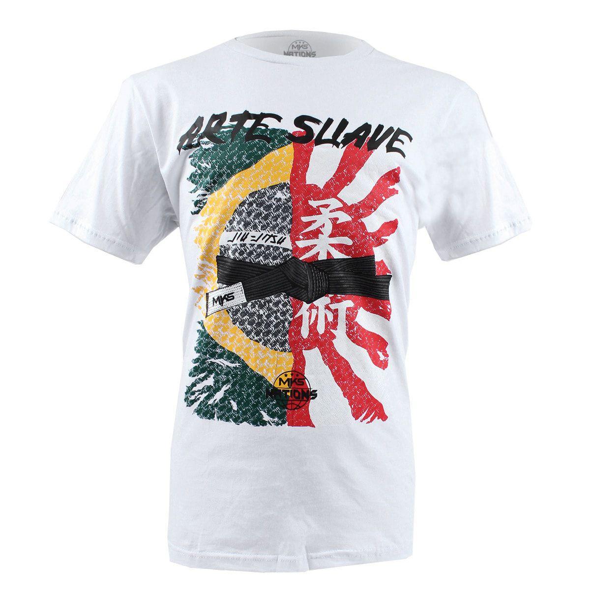 Camiseta MKS Nations Arte Suave - Branca