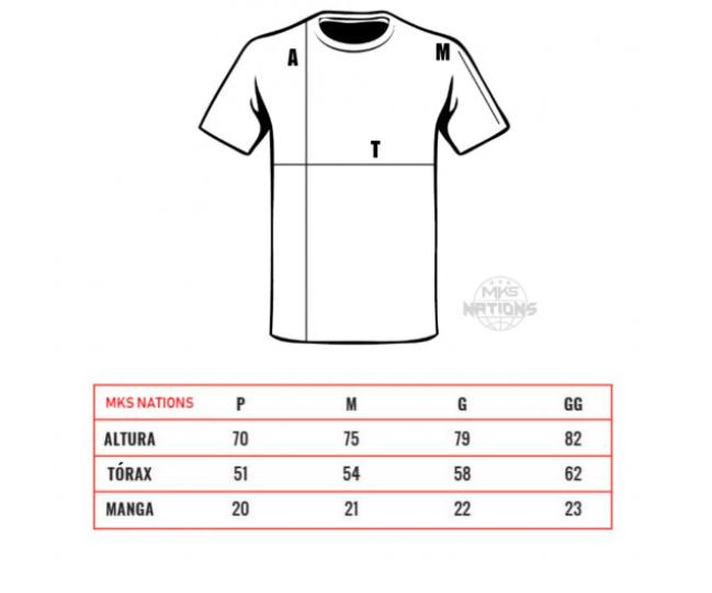 Camiseta MKS Nations Arte Suave - Preta