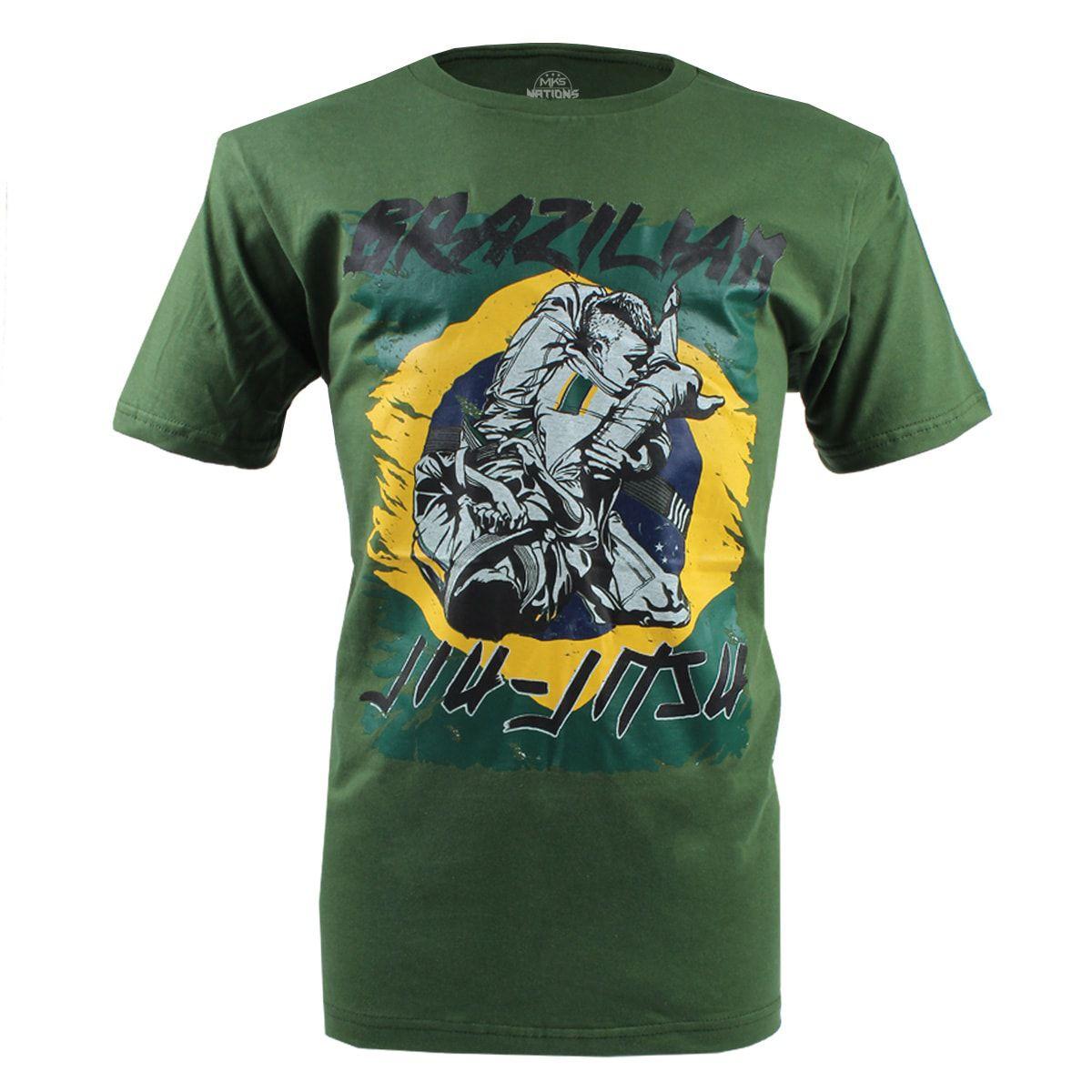 Camiseta MKS Nations Brazilian Jiu-Jitsu - Verde