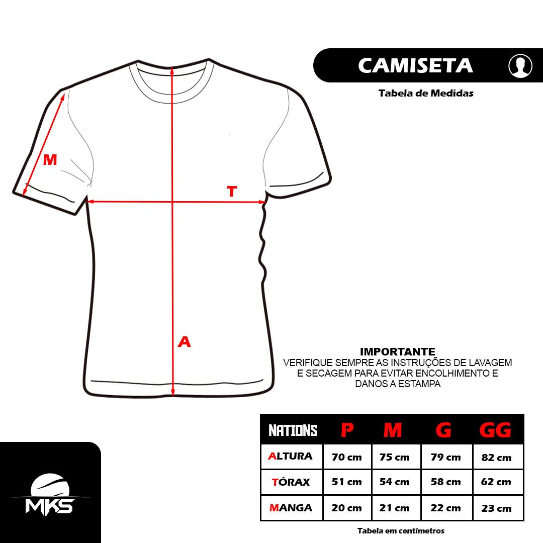 Camiseta MKS Nations Kickboxing - Cinza Mescla