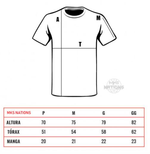 Camiseta MKS Nations Muay Thai - Branca