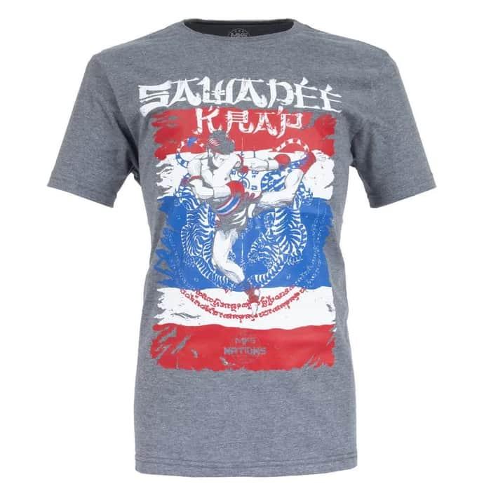 Camiseta MKS Nations Muay Thai - Cinza Mescla