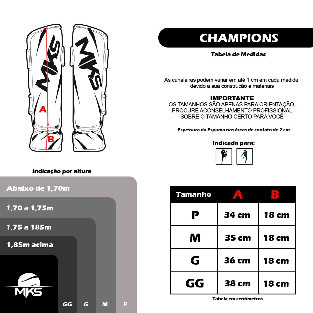 Caneleira MKS Champions III Branco/Dourado