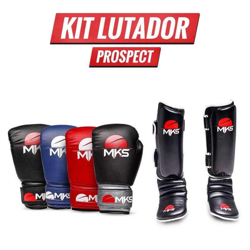 Combo Lutador: Luva Prospect + Caneleira Muay Thai